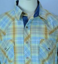 Men's Roper/Barefoot Wine Pearl Snap Embellished Western Shirt Size L EUC