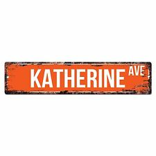 SWNA0061 KATHERINE AVE Street Chic Sign Home Store Shop Wall Decor Birthday Gift
