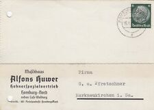 HOMBURG, Postkarte 1941, Alfons Huwer Hohnerspezialvertrieb