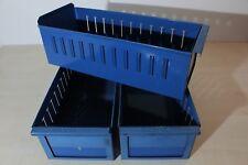 SSI Schäfer Regal-Lagerbox Lagerkasten Box Kiste Kasten Metall blau 40x16x12 cm