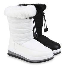 Damen Stiefeletten Winter Boots Warm Gefütterte Stiefel Gesteppt 832596 Schuhe