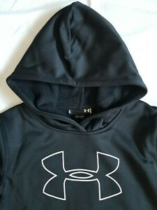 NEW Under Armour Youth Boys Fleece Hoodie Sweat Shirt Black MSRP $40 Great Gift