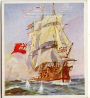 "HMS ""Centurion"" 60 Gun Fourth Rate Ship Royal Navy  c80 Y/O Trade Ad Card"