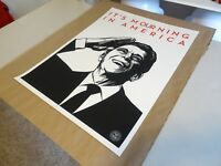 """2011 Shepard Fairey Obey Giant """" IT'S MOURNING IN AMERICA PRINT PASTER POSTER 1"""