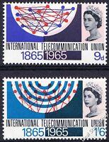 GB 1965 I.T.U. ITU Centenary Ordinary SG683-4 Complete Set Unmounted Mint MNH