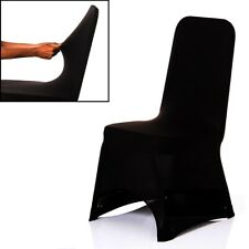 Spandex Dining Room Chair Covers SEAT Cover Stretch Wedding Party Decor Black