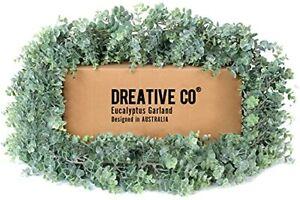 DREATIVE CO 9.2ft Eucalyptus Garland Greenery – Boxwood Lambs Ear Wedding Man...