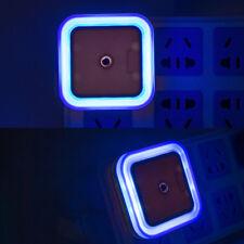 Blue EU Plug Auto LED Light Induction Sensor Control Lamp Night Light Bedroom