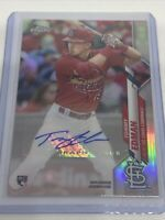 Tommy Edman Autograph 2020 Topps Chrome Update Rookie Card RC Auto Cardinals