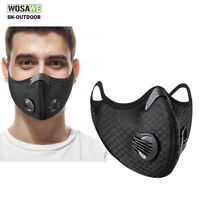 Outdoor Cycling dustproof Half Face Cover with Filter Mouth Muffler Washable
