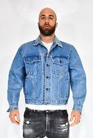 RICA LEWIS Giubbotto Di Jeans Blu In Cotone Stile Casual Taglia XL Uomo Man