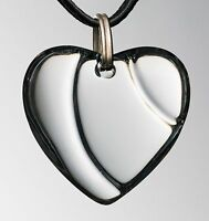 AUTHENTIC BACCARAT FRANCE CLEAR HEART COEUR CRYSTAL PENDANT NECKLACE BLACK CORD