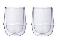 Double-Walled Kinto KRONOS Cup - Maintains Temp - Prevents Condensation - 2 Set