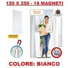 TENDA ZANZARIERA MAGNETICA CALAMITA 120x250 CM BIANCA X PORTA BALCONE FINESTRA