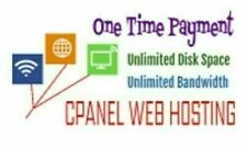 One Time Payment cPanel Web Hosting - Unlimited Disk Space / Unlimited Bandwidth