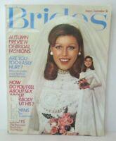 BRIDE'S MAGAZINE Aug / Sept 1973 1970's Wedding Dresses Conde Nast Vintage TM1