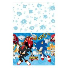 SONIC THE HEDGEHOG PLASTIC TABLE COVER ~ Birthday Party Supplies Decoration SEGA