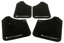 Rally Armor 02-07 Subaru WRX /STI /RS /2.5​i UR Black Mud Flaps Kit WHITE Logo