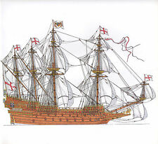VINTAGE HISTORICAL SAILING SHIP PRINT ~ PRINCE ROYAL 1610