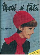 MANI DI FATA NOVEMBRE 1966 ANNO XXXXI N 11 LAVORI FEMMINILI TAGLIO CUCITO RICAMO