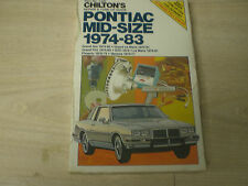 1974-1983 PONTIAC GRAND AM GRAND LeMANS GRAND PRIX GTO LeMANS PHONEIX VENTURA