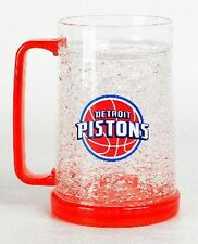 NBA, 16oz Crystal Freezer Mug, Detroit Pistons, NEW