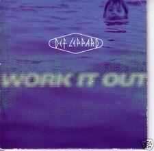 DEF LEPPARD Work It Out SLEEVE PROMO DJ CD Single 1996