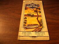 1930 THE GRAY LINE SEEING THE TWIN CITIES ST. PAUL MINNEAPOLIS MINN. BROCHURE