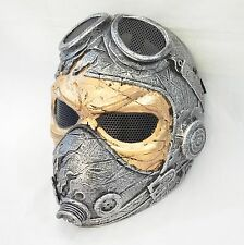 COOL Airsoft Paintball Full Face Wire Mesh Protection Kamikaze WWII Pilot Mask