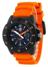 LUMINOX Navy Seal 45MM Blue Dial Orange Strap Men's Watch XS.3603