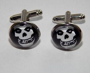 Misfits Crimson Ghost Skull cufflinks horror punk band Misfits goth cufflinks