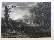 Challis / Claude Gellée Le Lorrain Céphale et Procris  ENGRAVING Gravure c1835