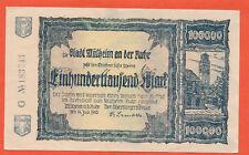Mühlheim a.d Ruhr 100.000 Mark  14. Juli 1923 Notgeld aus Rheinland  ( 350