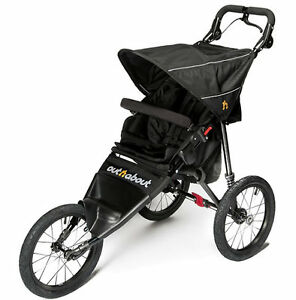 New in box Out n about nipper sport V4 pushchair Raven black Raincover OPEN BOX