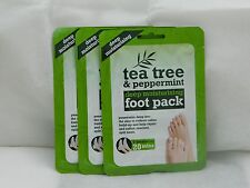 3 x packs of Tea Tree and Peppermint Deep Moisturising Foot treatments
