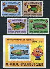 Congo: 1982 World Cup Soccer Set and Souv Sheet Airmails (C276-C281) MNH