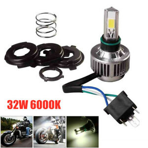 32W 6500K 3-Sided LED Universal Motorcycle H4 Headlight Bulb 360° Hi /Low Beam