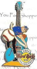 Hard Rock Cafe Philadelphia Baseball Guitar Series 2004 Pin LE Rare NEW # 22348