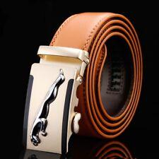Fashion Mens Leather Belt Automatic Buckle Casual Mens Belts Waist Strap Jaguar