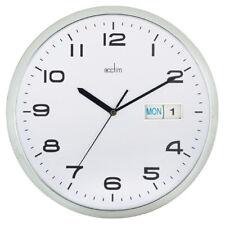 Acctim Chrome/white Supervisor Wall Clock 320mm 21027