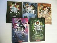 Lot 5 AMULET Manga Graphic Novels #1, 2, 3, 4, 5  by Kazu Kibuishi New Books