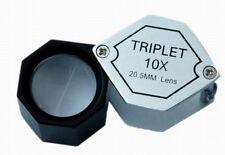 Hexagonal Lupa triple 10X 20.5 mm alta calidad en el Reino Unido s