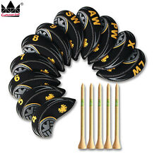 11PCS Oversized Neoprene Golf Iron Covers Club Headcovers With Wood Tees