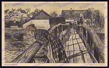 Wildenroth Amper Holzbrücke Bauernhäuser Grafrath Fürstenfeldbruck Romantik 1906