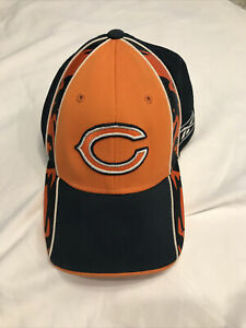 Chicago Bears Hat  Cap Fitted Reebok OSFA NFL Football navy orange detailed EUC