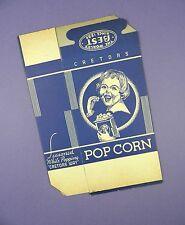Original c1930's Unused Cretors - Young Girl Design Popcorn Box