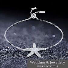 Silver Adjustable Bracelet Crystal Rhinestones Bangle Friendship Jewelry Charm