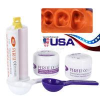 Dental Putty Impression Silicone Material set 50g*2&Light Body 50ml Wash USA