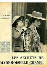 Coupure de presse Clipping 1959 Mademoiselle Coco Chanel (5 pages) les secrets