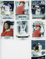 8 count lot assorted 2018 Leaf SHOHEI OHTANI Rookies plus 2010 MIKE TROUT RC